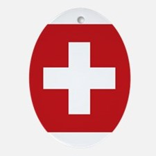swiss-flag.png Ornament (Oval)