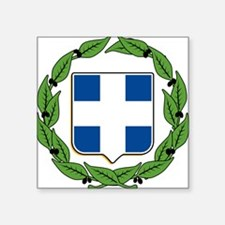 "greek-crest.png Square Sticker 3"" x 3"""