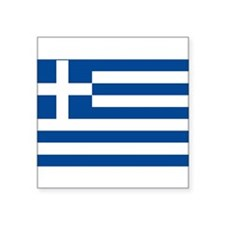 "greek-flag.gif Square Sticker 3"" x 3"""