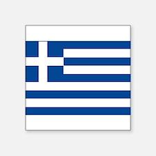 "greek-flag.gif Square Sticker 3"" x 3"""