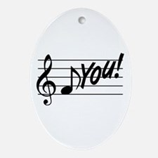Music Note F You Ornament (Oval)