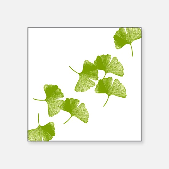 "ginkgo_tr.png Square Sticker 3"" x 3"""