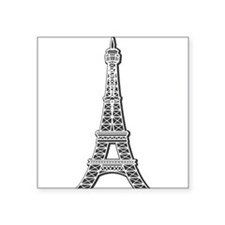 """EIFFEL-TOWER.png Square Sticker 3"""" x 3"""""""