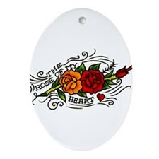 tat-rose-of-my-heart_tilt.png Ornament (Oval)