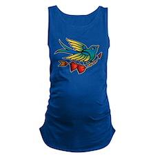 tat-bird_side.png Maternity Tank Top