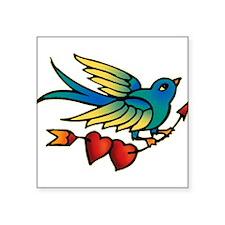 "tat-bird_side.png Square Sticker 3"" x 3"""