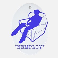 funemployed.gif Ornament (Oval)