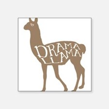 "Drama Llama Square Sticker 3"" x 3"""