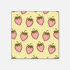"cutie-strawberries_6x18.png Square Sticker 3"" x 3"""