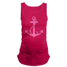 Pink Anchor Maternity Tank Top