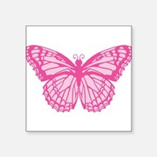 "butterfly-pink.png Square Sticker 3"" x 3"""