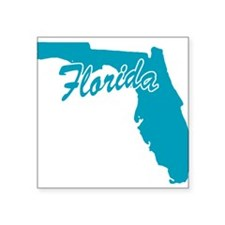 "3-florida.png Square Sticker 3"" x 3"""