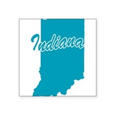 "3-indiana.png Square Sticker 3"" x 3"""
