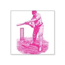 "cricket_pk.png Square Sticker 3"" x 3"""