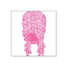 """wig_pk.png Square Sticker 3"""" x 3"""""""
