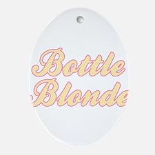 Bottle Blonde Ornament (Oval)