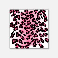 "leopard-print-pink_tee.png Square Sticker 3"" x 3"""