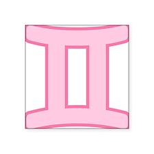 """pink-zodiac-gemini.png Square Sticker 3"""" x 3"""""""