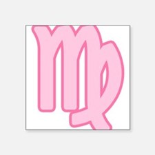 "pink-zodiac-virgo.png Square Sticker 3"" x 3"""