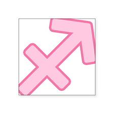 "pink-zodiac-sagittarius.png Square Sticker 3"" x 3"""