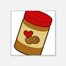 "peanut-butter.png Square Sticker 3"" x 3"""