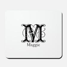 Maggie: Fancy Monogram Mousepad