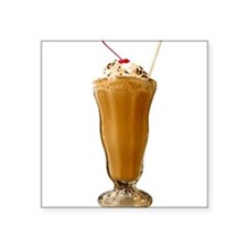 "milkshake-chocolate.png Square Sticker 3"" x 3"""