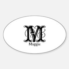 Maggie: Fancy Monogram Oval Decal