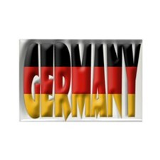 Word Art Flag Germany Rectangle Magnet