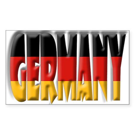 Word Art Flag Germany Rectangle Sticker