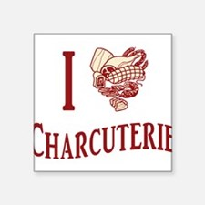 "i-love-charcuterie.png Square Sticker 3"" x 3"""