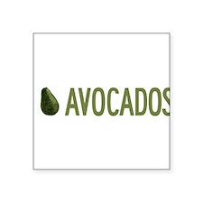 """I-Love-Avocados.png Square Sticker 3"""" x 3"""""""