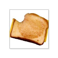 "bl_grilledcheese.png Square Sticker 3"" x 3"""
