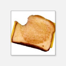 """bl_grilledcheese.png Square Sticker 3"""" x 3"""""""