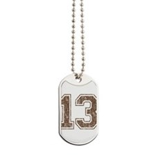 Retro 13 Number Dog Tags