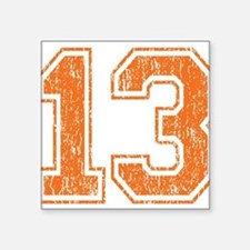 "Retro 13 Number Square Sticker 3"" x 3"""