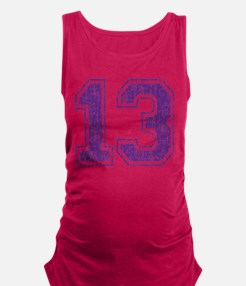 Retro 13 Number Maternity Tank Top