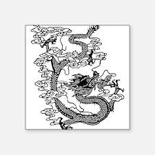 "dragon_black.png Square Sticker 3"" x 3"""