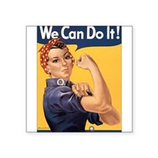 "we-can-do-it.png Square Sticker 3"" x 3"""