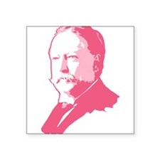 "taft_pink.png Square Sticker 3"" x 3"""