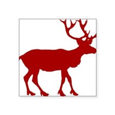 "reindeer_red.png Square Sticker 3"" x 3"""