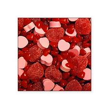 "candy-hearts-mix_9x12.jpg Square Sticker 3"" x 3"""