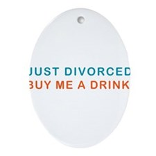 DIVORCE-DRINK.png Ornament (Oval)