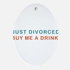 DIVORCE-DRINK.png Ornament (Oval)
