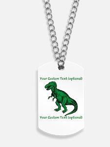CUSTOM TEXT T-Rex Dog Tags