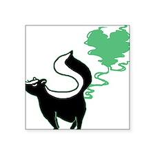 "love-stinks-skunk.png Square Sticker 3"" x 3"""