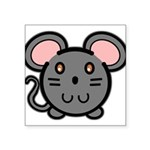 mousie-grey.png Square Sticker 3