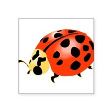 "bl_ladybeetle.png Square Sticker 3"" x 3"""