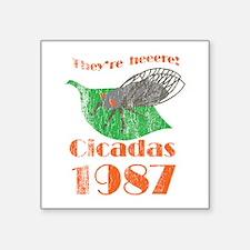 """Retro Cicadas 1987 Square Sticker 3"""" x 3"""""""