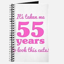 Cute 55th Birthday For Women Journal